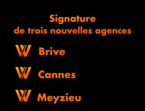 Signature de trois nouvelles agences.