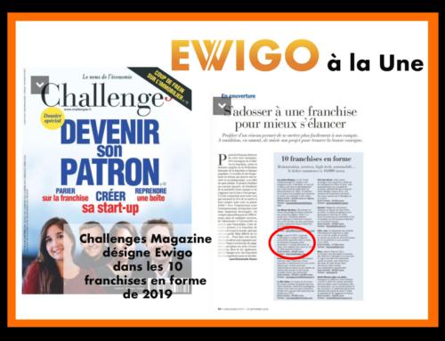 Challenges Magazine désigne Ewigo dans les 10 franchises en forme de 2019