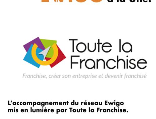 L'accompagnement du réseau Ewigo mis en lumière par Toute la Franchise.