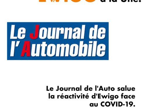 Le Journal de l'Auto salue la réactivité d'Ewigo face au COVID-19
