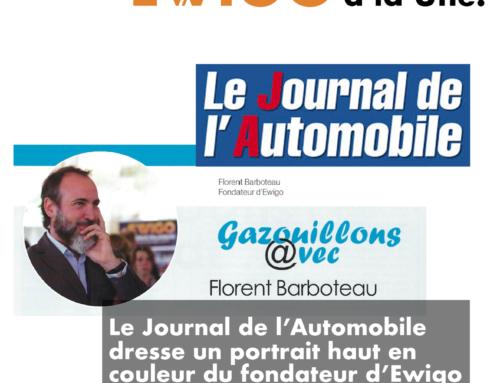 Le fondateur d'Ewigo se dévoile dans le Journal de l'Automobile !